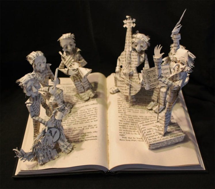 Book Cut Out Art